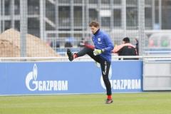 Testspiel FC Schalke 04 -  Preußen Münster 18.01.2020. Torwart Alexander Nübel stand für Schalke im Tor. Foto: S. Sanders