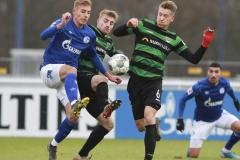 Testspiel FC Schalke 04 -  Preußen Münster 18.01.2020 Foto: S. Sanders  Timo Becker, Fridolin Wagner (Münster), Nico Brandenburger (Münster)