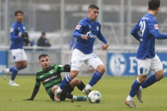 Testspiel FC Schalke 04 -  Preußen Münster 18.01.2020 Foto: S. Sanders  Seref Özcan (Münster), Levent Mercan