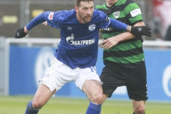 Testspiel FC Schalke 04 -  Preußen Münster 18.01.2020 Foto: S. Sanders  Guido Burgstaller, Alexander Rossipal (Münster)