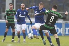Testspiel FC Schalke 04 -  Preußen Münster 18.01.2020 Foto: S. Sanders  Timo Becker, Maurice Litka (Münster)